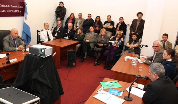 Simulacro de un juicio por jurado de la provincia de Buenos Aires