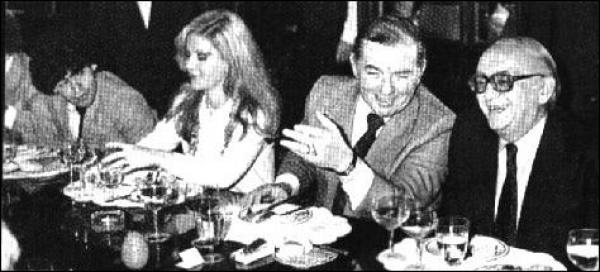 Lacoste rodeado por Bernardo Neustadt, Graciela Alfano y Diego Maradona.